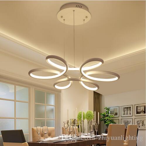 Kronleuchter Beleuchtung Glanz Led Lampe Moderne Hängende Leuchte Aluminium  Deckenplatte Fernbedienung Kronleuchter Wohnzimmer