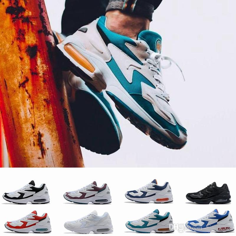 competitive price c7e3e 80e0d 2018 New Max2 Light OG Men Running Shoes White Air Blue Mens Designer  Sneakers Trainers Zapatos Sports Dad Shoes Size 40 46 Shoes On Sale Ladies  Running ...