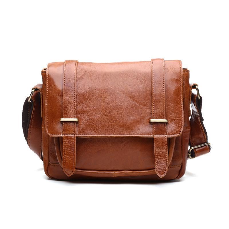 High Quality Fashion Vintage Genuine Leather Men Handbags Cowhide ... beab0e04821b7