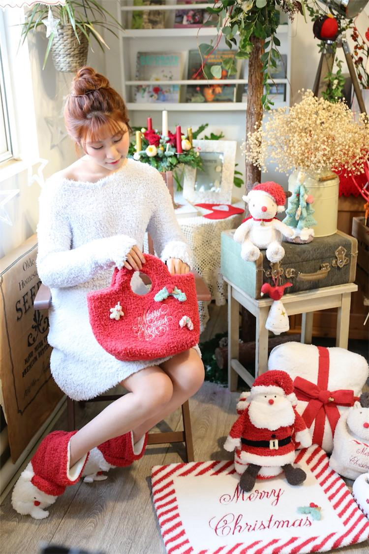 2018 2018 new years gift christmas gift hot selling plush bag japenese new designfashion girls handbag xmas fair limited popular cosmetic bag from