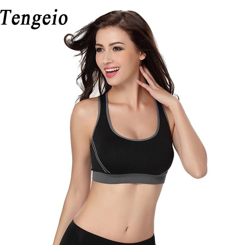 9cab7951599 Tengeio Sporting Cropped Crop Tops Women 2017 Summer Bralette Padded  Fitness Feminino Blockout Bra Exercise Workout Tank Top 710 Workout Tank  Tank Top ...