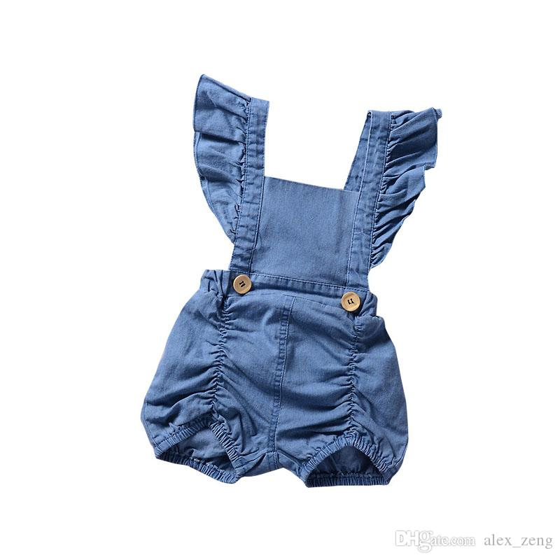 5fdf0bb04f81 2019 Baby Girls Rompers Summer Fly Sleeve Newborn Onesies Clothing ...