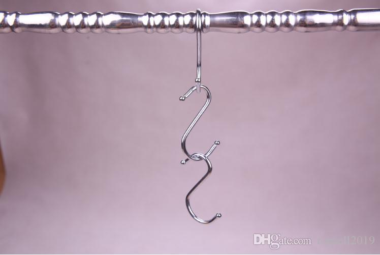 Small Heavy-Duty Metal S Shaped Hooks Kitchen S Type Hooks for Hanging Pans Pots Bags Towels SN077
