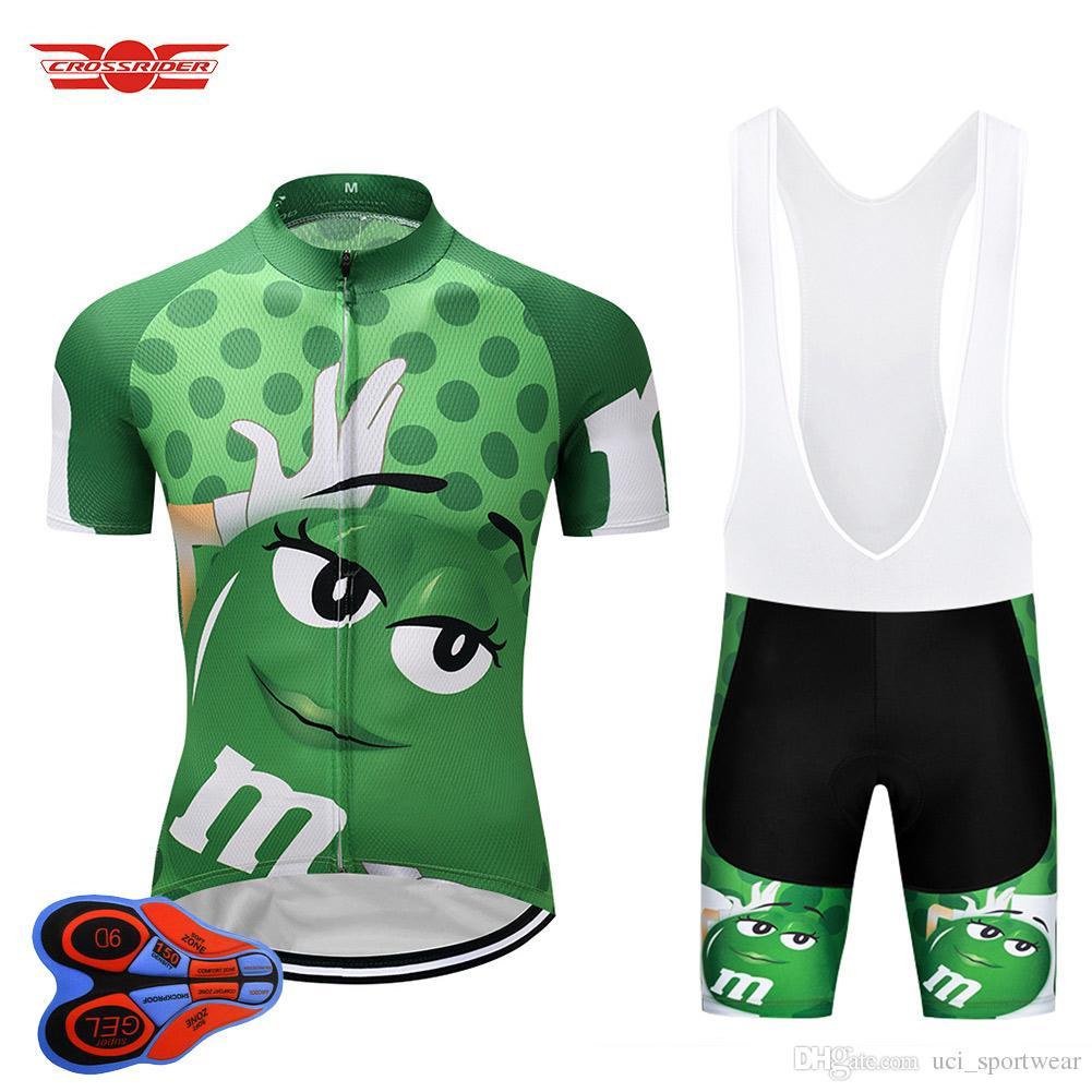 Crossrider 2018 Verde MMS Jersey Ciclismo Culotte MTB Camisa Bike Ropa Para  Bicicleta Ropa Hombre Short Maillot Culotte Traje Por Uci sportwear a91b58a79ec02