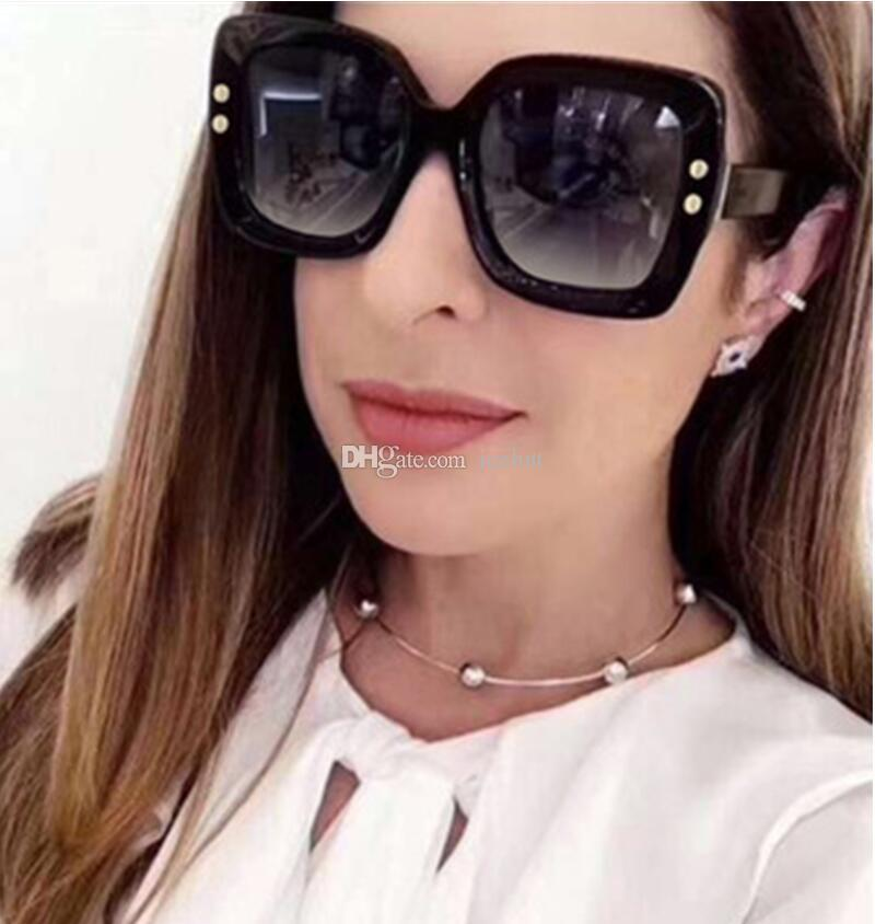 a579601f1839 2018 Luxury Italy Oversized Square Sunglasses Women Retro Brand Designer  Sun Glasses For Female Ladies Black Eyewear Designer Eyeglasses Womens  Sunglasses ...