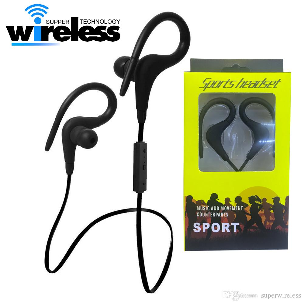 6d3f70fb825 Auriculares Boton BT1 Auricular Inalámbrico Bluetooth Sport Earhook  Auriculares Estéreo Over Ear Wireless Neckband Auriculares Auriculares Con  Micrófono ...
