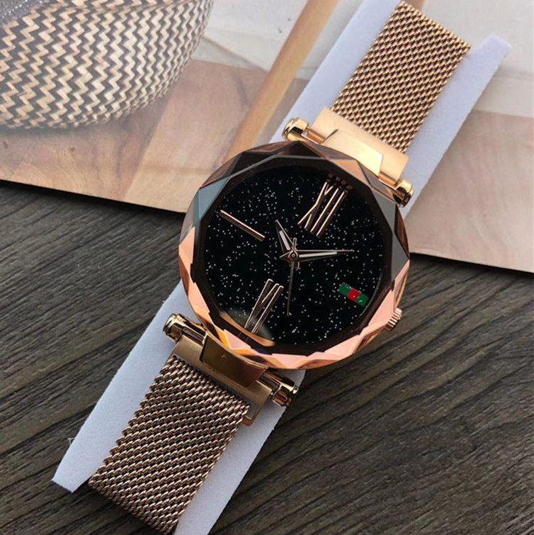 Uhr Multicolor Luxusmarke Armbanduhr Frauen Starry Sky Wasserdichte Edelstahl Damen Damenuhr Mode Quarzuhr Lässige 0wnNvm8