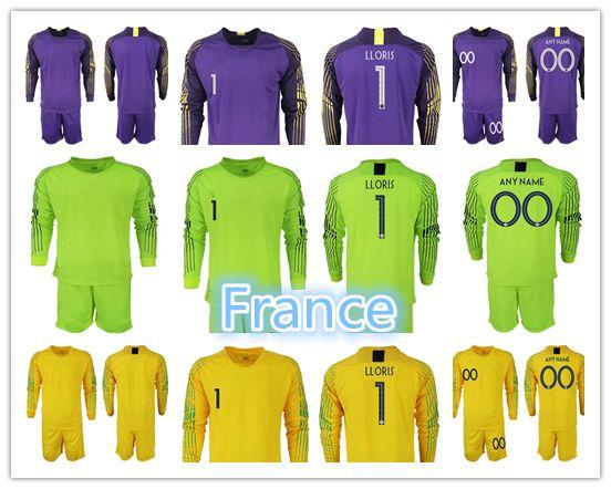 4d667d37c0a 2018 Best quality World Cup LLORIS Soccer Jersey 1819 France goalkeeper  Men's Long sleeve Soccer Training Kit