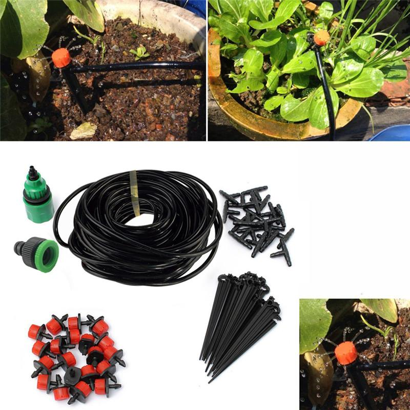 2018 25m Diy Micro Drip Irrigation System Plant Self Automatic
