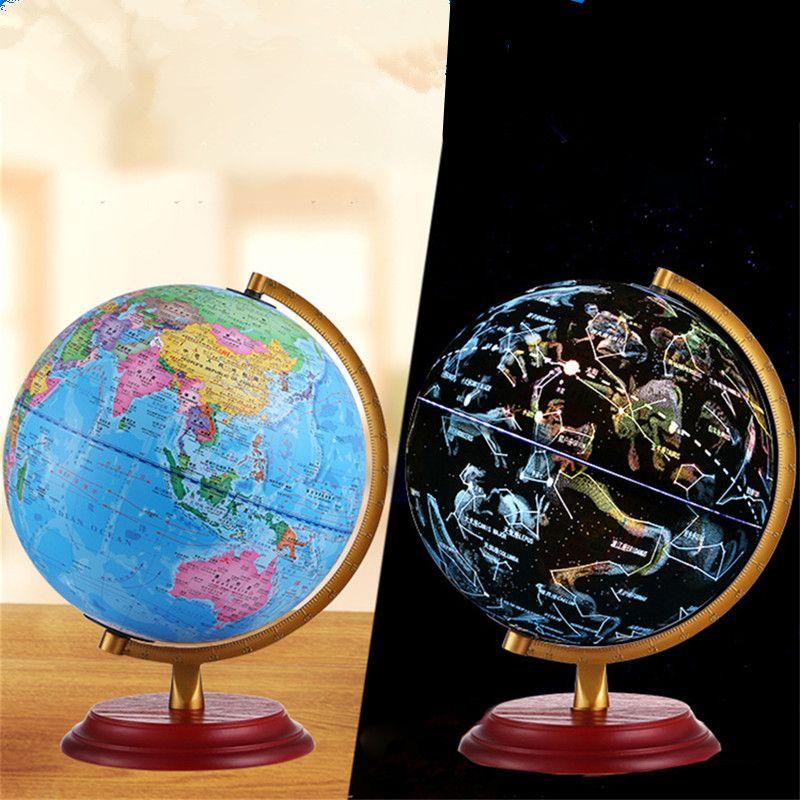 Creative Bureau Enfant Decor Study Cadeau Table Lampe Student Rotation Pour Map De Led Globe Light Constellation Tellurion World Room lKcTJ3Fu1
