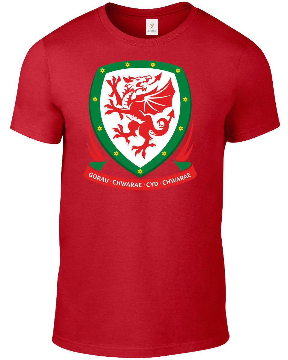 Wales World Cup 2018 T Shirt Football Soccer Plus Sizes S 5xl Tee