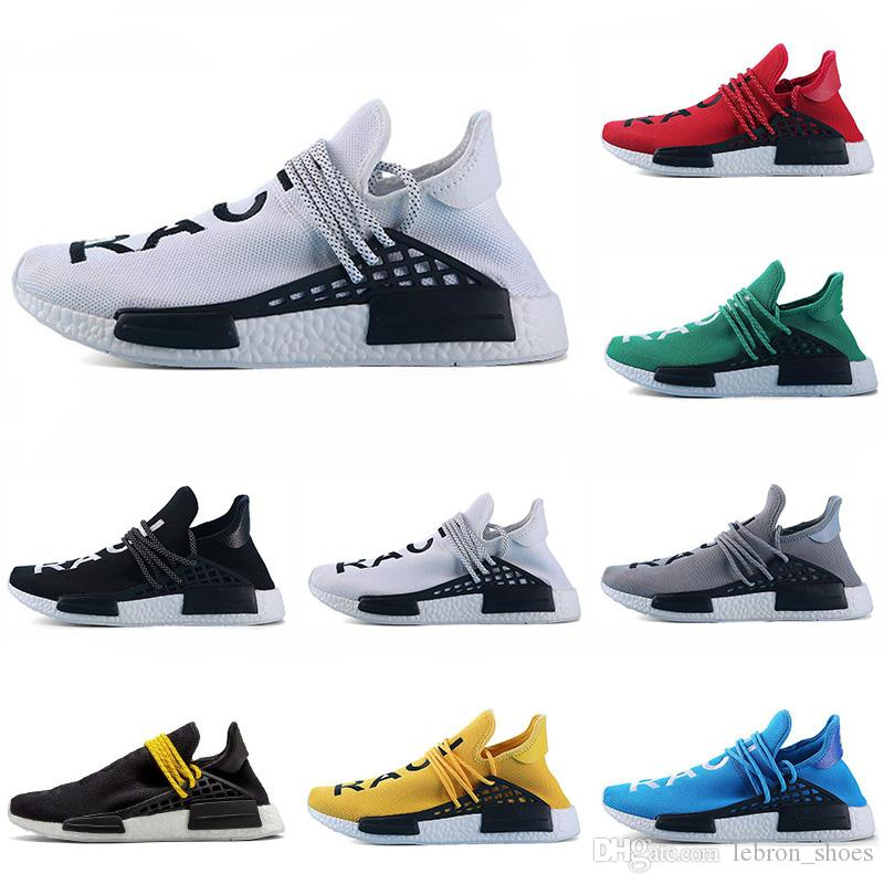 27a35306f On Sale Human Race Running Shoes Yellow Black Red Grey Green Pharrell  Williams Mens Trainer Women Sneaker Fashion Sports Shoe Size 5.5 12 Womens  Running ...