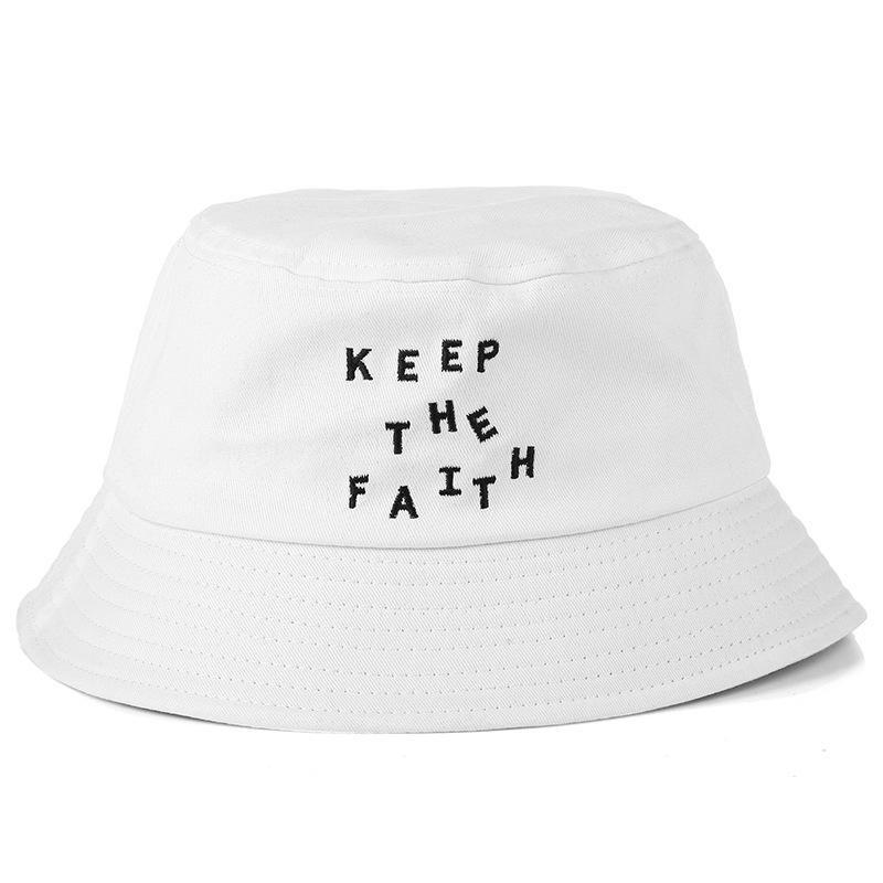 Fashion 2018 Bucket Cap Foldable Fishing Caps Keep The Faith Bucket Hat Hot  Beach Sun Visor Sale Folding Man Bowler Cap For Mens Womens Hat Styles Wool  Hat ... 8ed10fbfe9