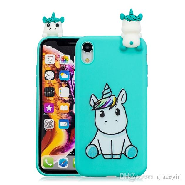 702d239d910 3D Doll Unicorn Panda Owl Soft TPU Case For Iphone XR XS Max X Huawei Mate  20 Lite Nova 3I P20 Pro Y3 Y5 Y7 2018 Cat Dog Fox Animal Cover Glitter Cell  Phone ...
