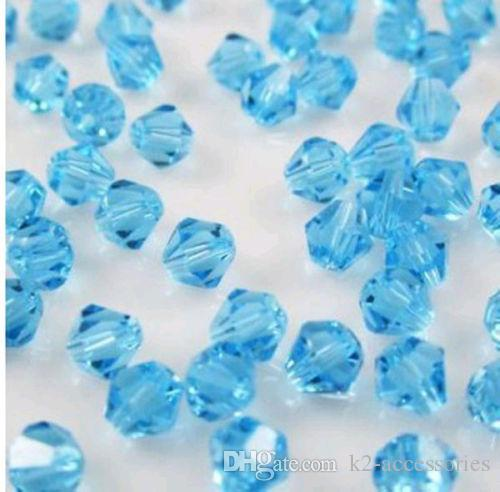 #5301 DIY jewelry 6mm FACETED Glass Crystal Bicone bead MIX COLORS DIY Jewelry making