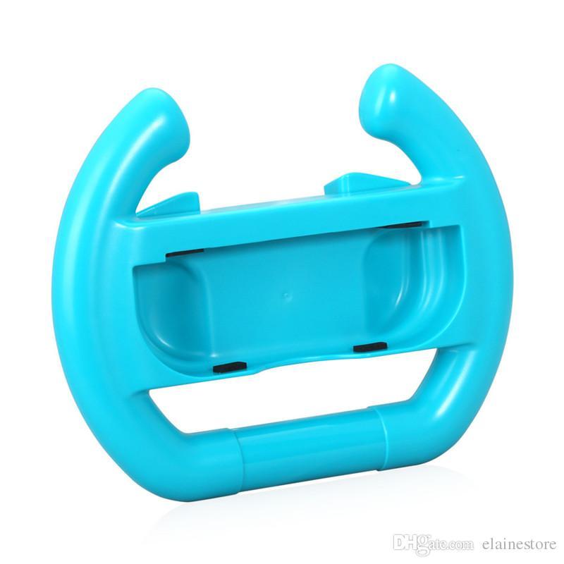 2 unids / set Volante de Dirección Para Nintend Switch Joy-Con Controlador Hand Grip Handle Controlador Dirección Manipular Rueda Con Caja