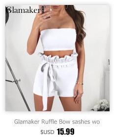 Glamaker Sexy strap due pezzi tuta estate sexy tuta pagliaccetto Donne off spalla bodycon tuta aderente tute pagliaccetti