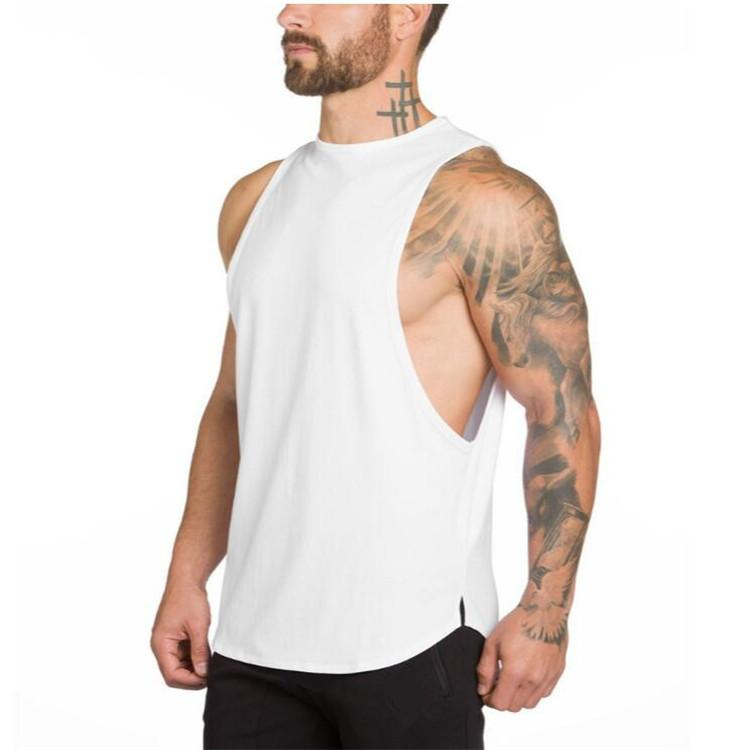 New HOT gyms Athletic clothing for men workout singlet bodybuilding stringer tank top men fitness vest muscle sleeveless T shirt