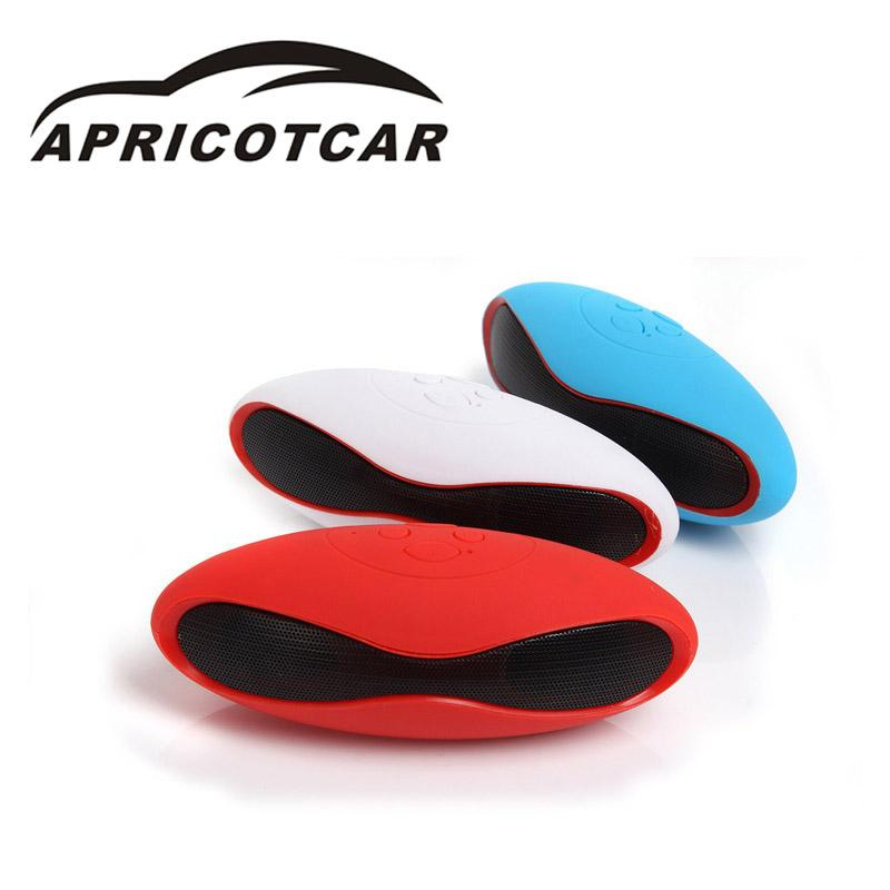 The New Car Mini Cards Audio Hands-free Fully Functional Call Accessories Min Multicolor Rugby Wireless Bluetooth Speakers Car