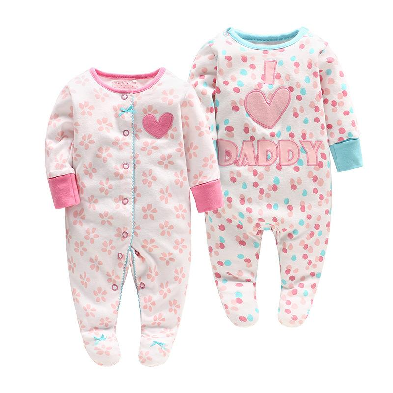 7c348ec783c 2019 Baby Girl Clothing Romper Spring Fall Boutique 100% Cotton Kids Romper  Girl Cartoon Design Newborn Baby Clothes Romper From Ivytrade1125