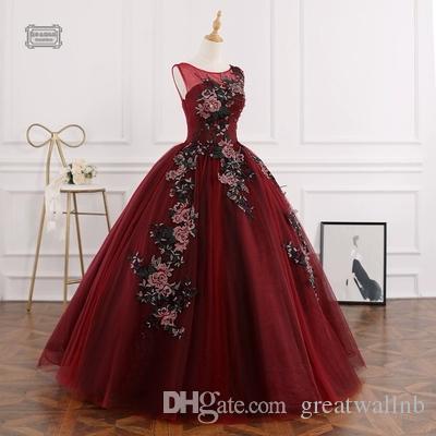 Vino Flores Princesa De Versalles Vestido Bordado Rococó Compre Rojo ED2YW9HI
