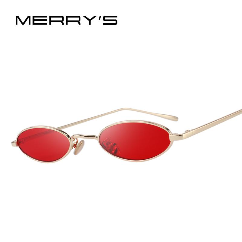 127cd2a465c4 MERRY S DESIGN Women Fashion Small Oval Sunglasses Red Lense UV400 ...
