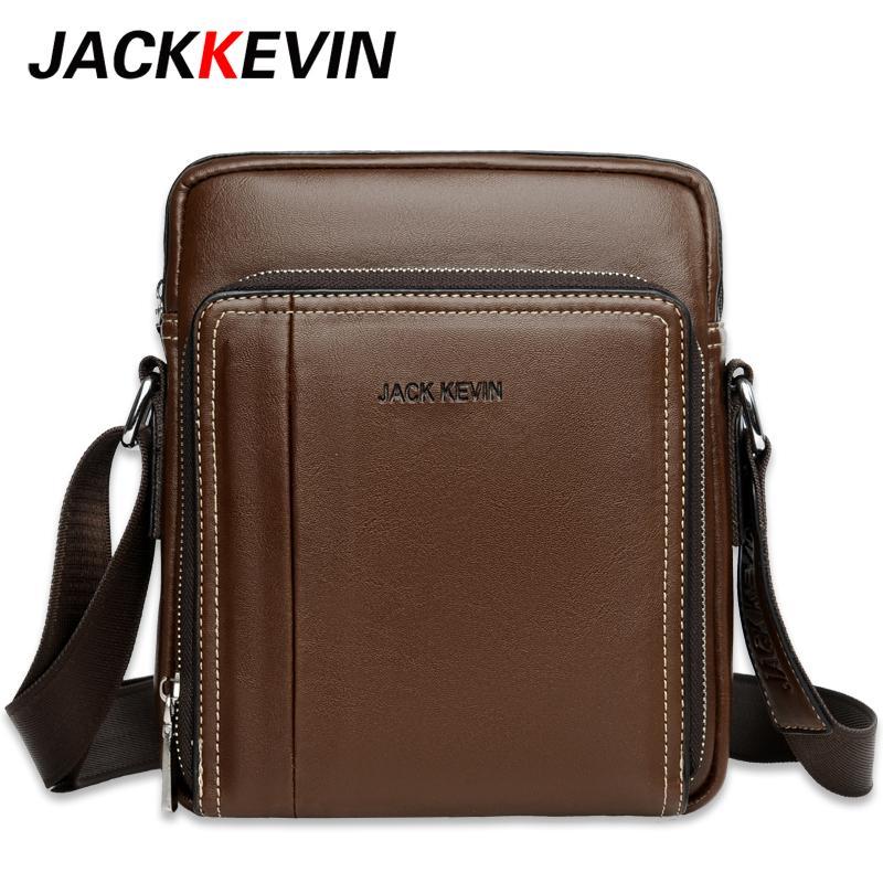 ca7152263238 JackKevin Famous Brand Leather Men Bag Casual Business Leather Mens  Messenger Bag Vintage Men S Crossbody Bolsas Male Crossbody Purses Designer  Purses From ...