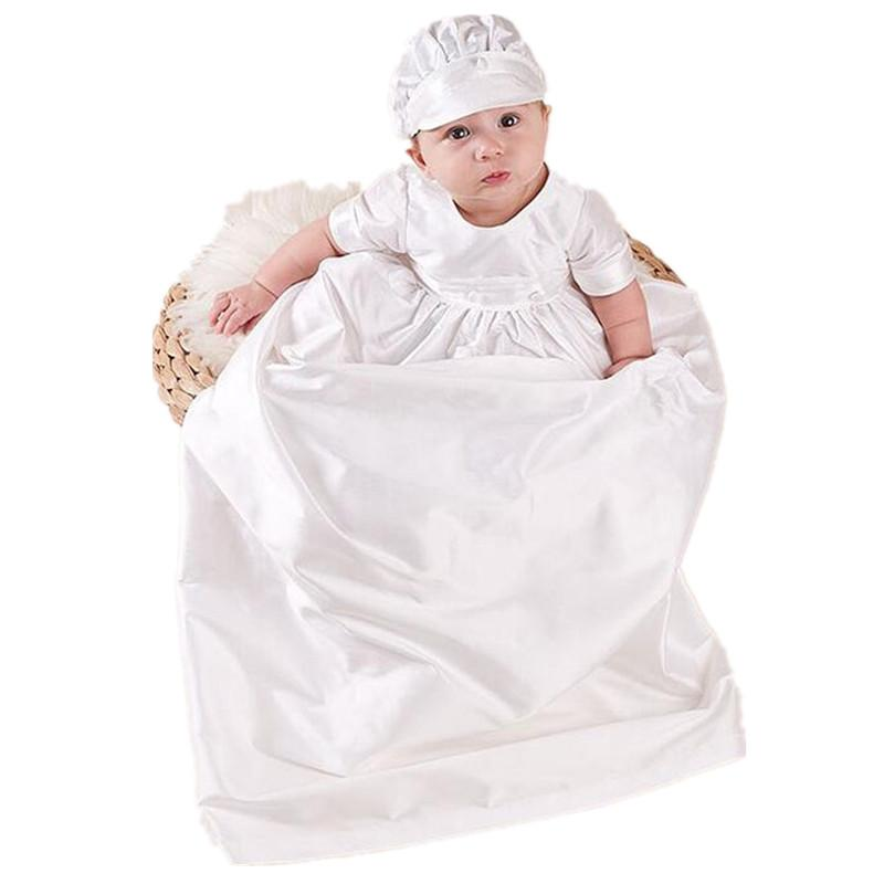 bbwowlin baby boy baptism christening gowns with hat white