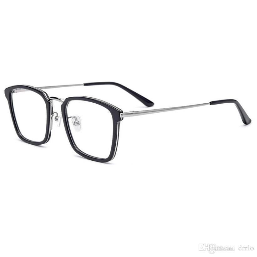 Compre Homens Vidros Ópticos Moldura Marca Quadrado Armações De Óculos Para  As Mulheres Armações De Espetáculo Óculos De Leitura Miopia Óculos Armações  Com ... 3113c068cb