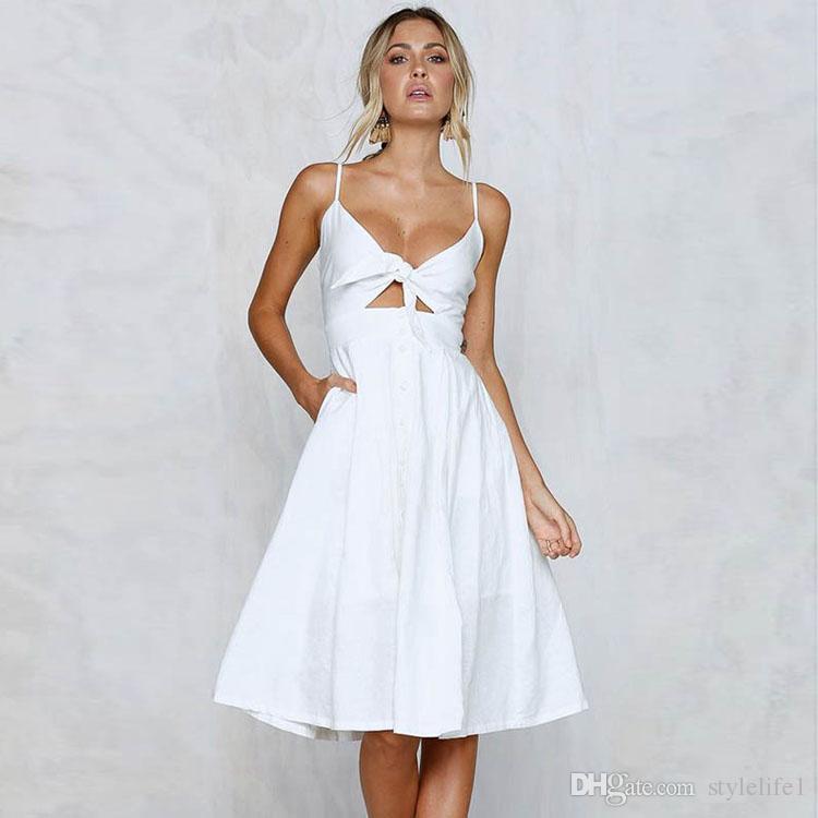 women s summer clothing Beach sexy dress beautiful women summer clothes V-neck casual high waist hot sale