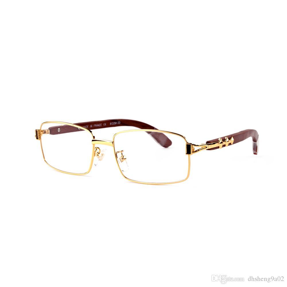 código promocional 66d5a b7890 Compre Gafas Rectangulares Para Mujer De Borde Redondo Para Cara Redonda,  Hechas En Francia 3 Estrellas En Gafas De Sol Vintage De Madera Para Hombre  ...