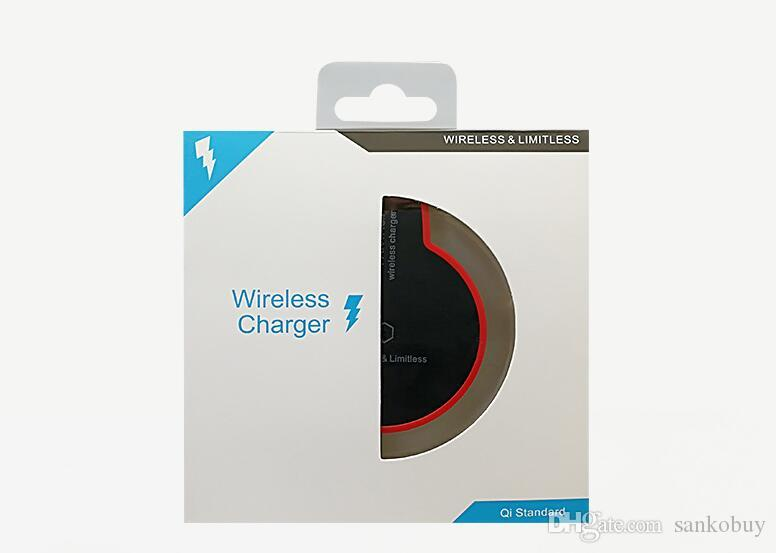 Premium Quality Wireless Charger for iPhone Android Cell Phone Qi Standard ultra-thin wireless & limitless Chargers DHL Free