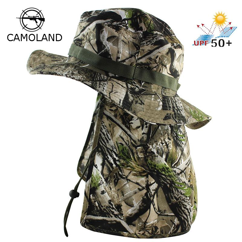 18e3ca817b46b 2019 Tactical Camouflage Boonie Hats Nepalese Cap Bucket Hat Militares Army  Mens Military Hiking Fishing Hat With Flaps Outdoor Caps From Jersey168