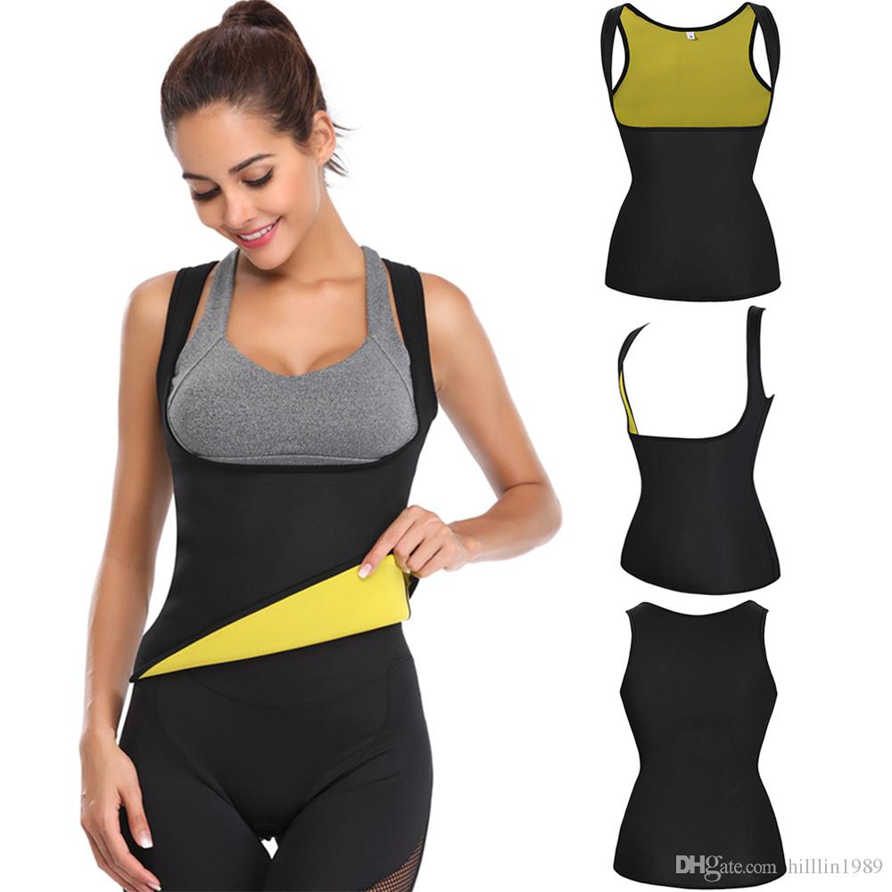 ee06f57ceb 2019 Women Shapewear Push Up Neoprene Sport Vest Waist Trainer Workout  Girdle Sweat Weight Loss Fitness Body Shapers From Hilllin1989