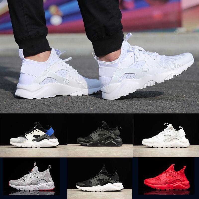 separation shoes a7dc4 ce6c8 Großhandel Nike Air Huarache Heißer Verkauf Männer Frauen Huarache IV 4  Laufschuhe Grau Rot Grün Dreifach Schwarz Weiß Blau Classicl Trainer Sport  ...