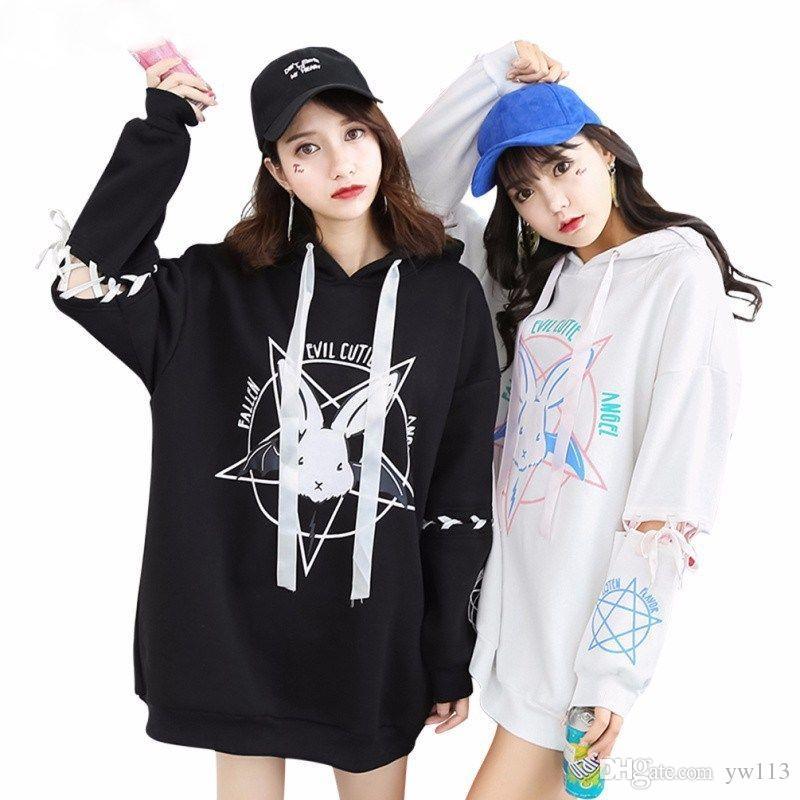 Kawaii Clothing Harajuku Hoodie Sweatshirt Rabbit Bunny Punk Gothic Japan  UK 2019 From Yw113 deec7317178