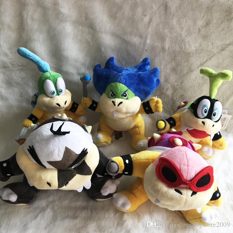 High Quality 7 Styles Super Mario Koopalings Larry Iggy Ludwig Wendy Roy Morton Lemmy Koopa Stuffed Toys Kids Gift