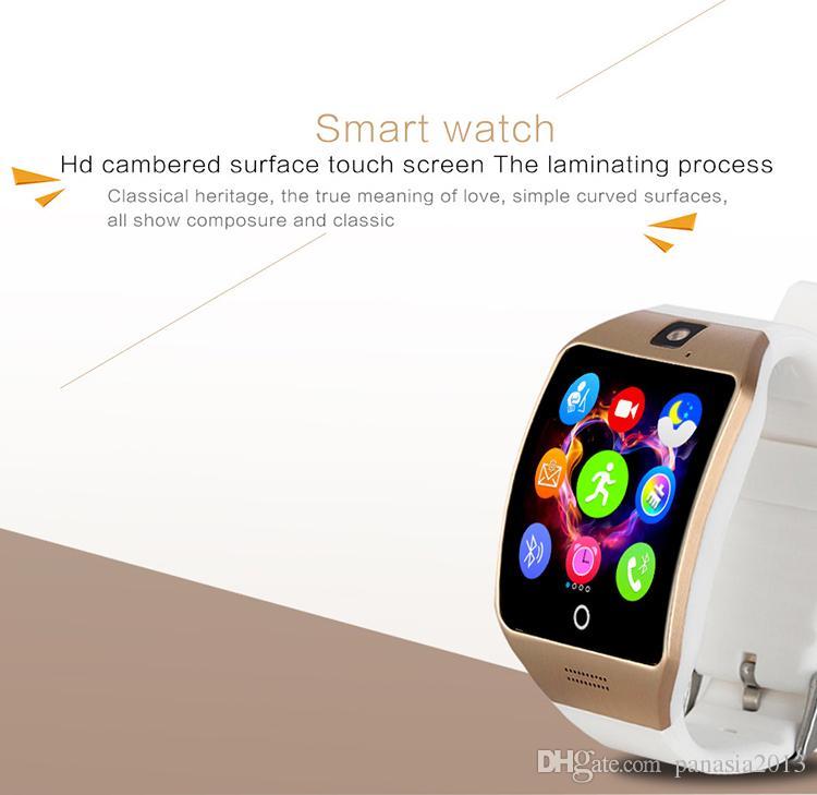 Venda quente Q18S smart watch bluetooth câmera smartwatch TF Cartão e Cartão SIM Q18S Relógio Inteligente NFC Bluetooth Compatível com IOS e Android