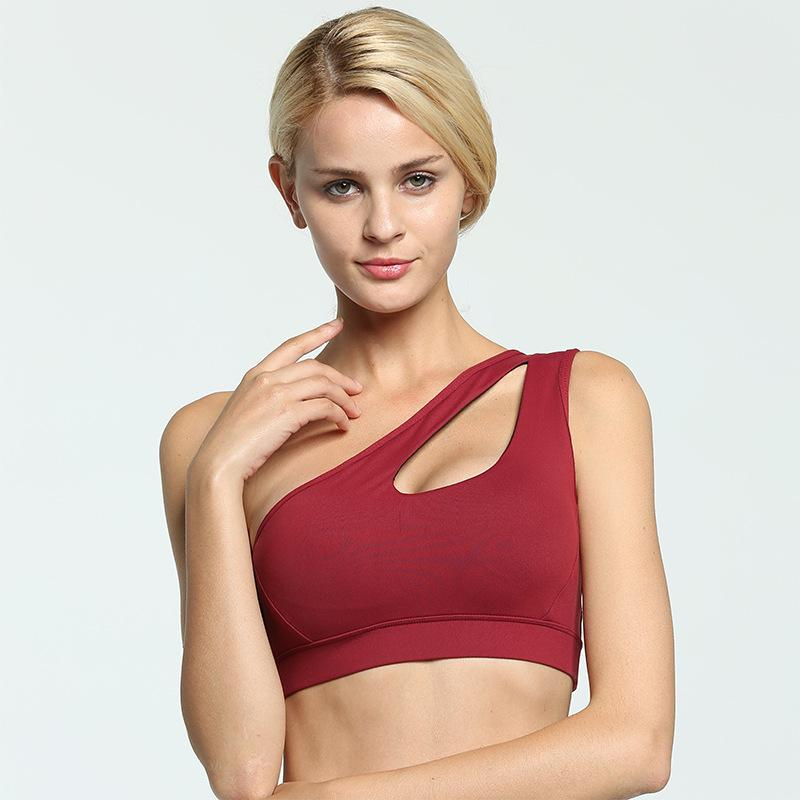 b2dc7901d1418 2019 BH 2018 Sexy Hollow Out Bra Racerback Padded Push Up Breathable Cotton  Brassiere Solid Color Fitness Underwear Top Bra Plus Size From Meinuo003
