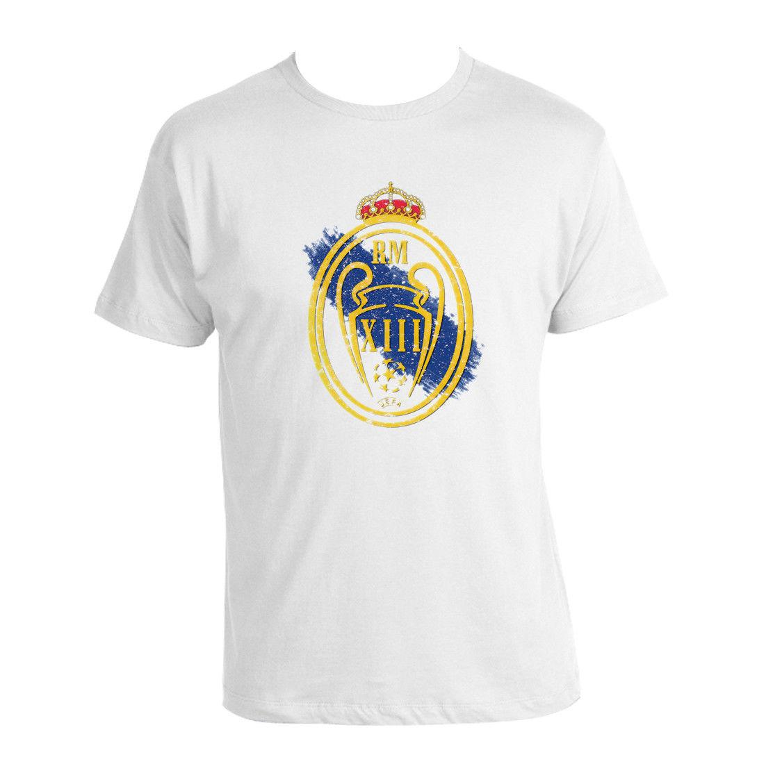 finest selection 3b238 2c881 Real Madrid C.F. shirt uefa champions league 2018 Winners T-shirt 13 Times  xiiiUnisex Funny free shipping gift Casual tee