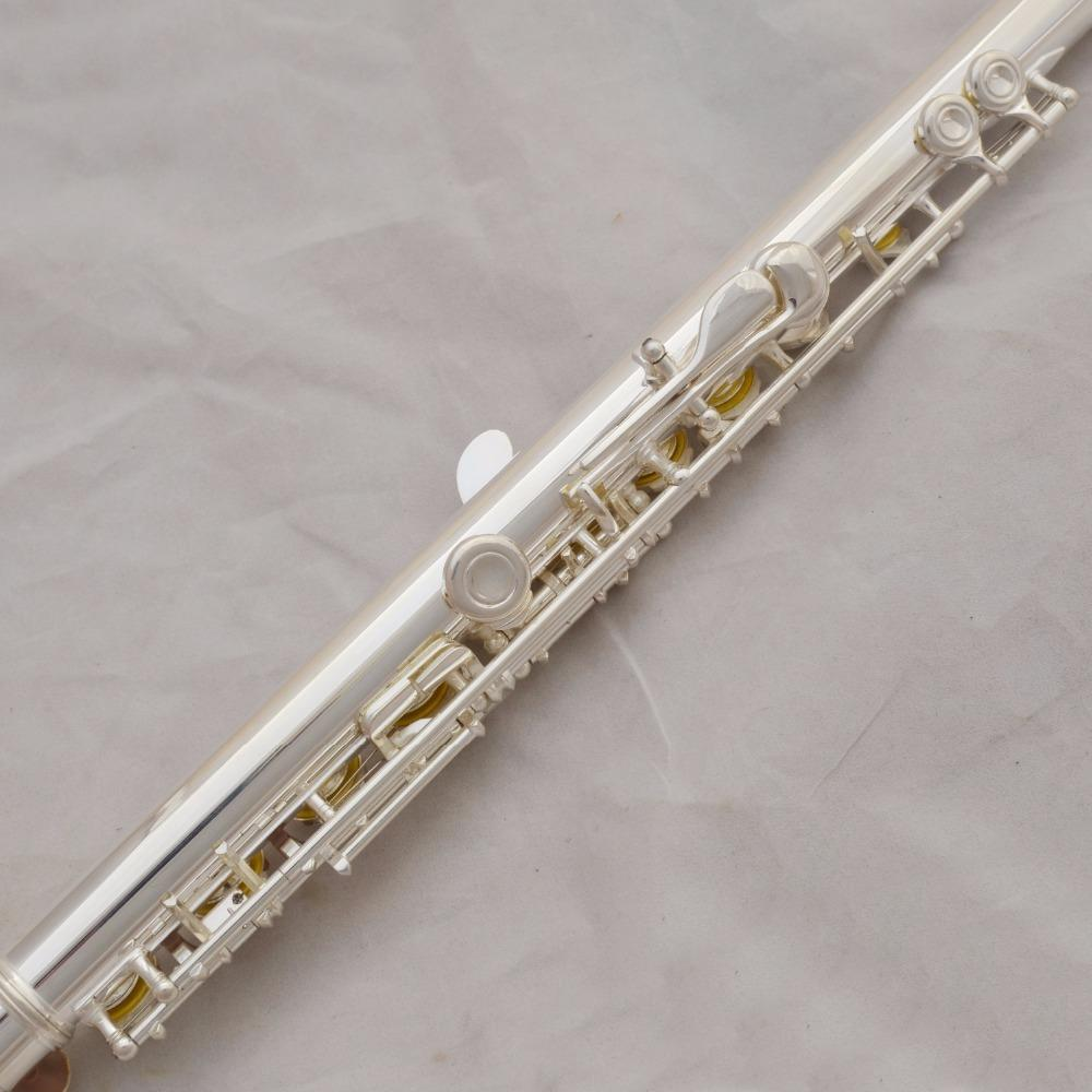 High Quality C Tone Professional Western Instruments YFL-211SL Flute Silver Plated Student 16 Holes Flute Closed Hole Flute With E Key, Case