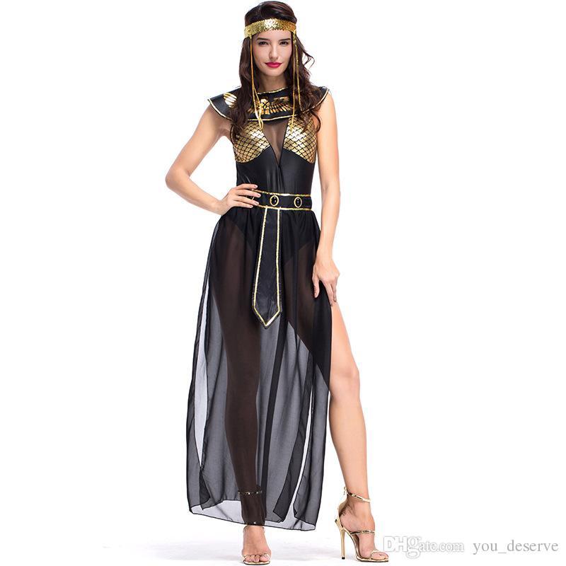 1846c64078f7 Acquista Nuovi Costumi Della Dea Egiziana Sexy Donne Nere Abiti Cosplay  Halloween Costume Party Fancy Ball Abbigliamento Vendita Calda A  36.25 Dal  ...