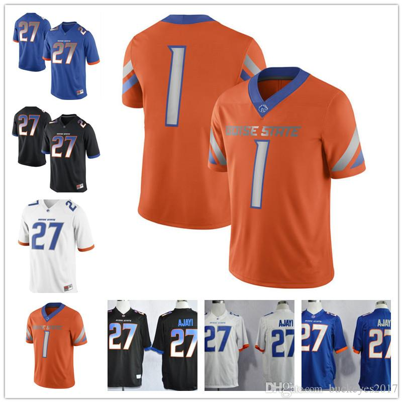 80590e0a0b5 ireland 2019 custom boise state broncos 27 jay ajayi stitched any name  number white orange black