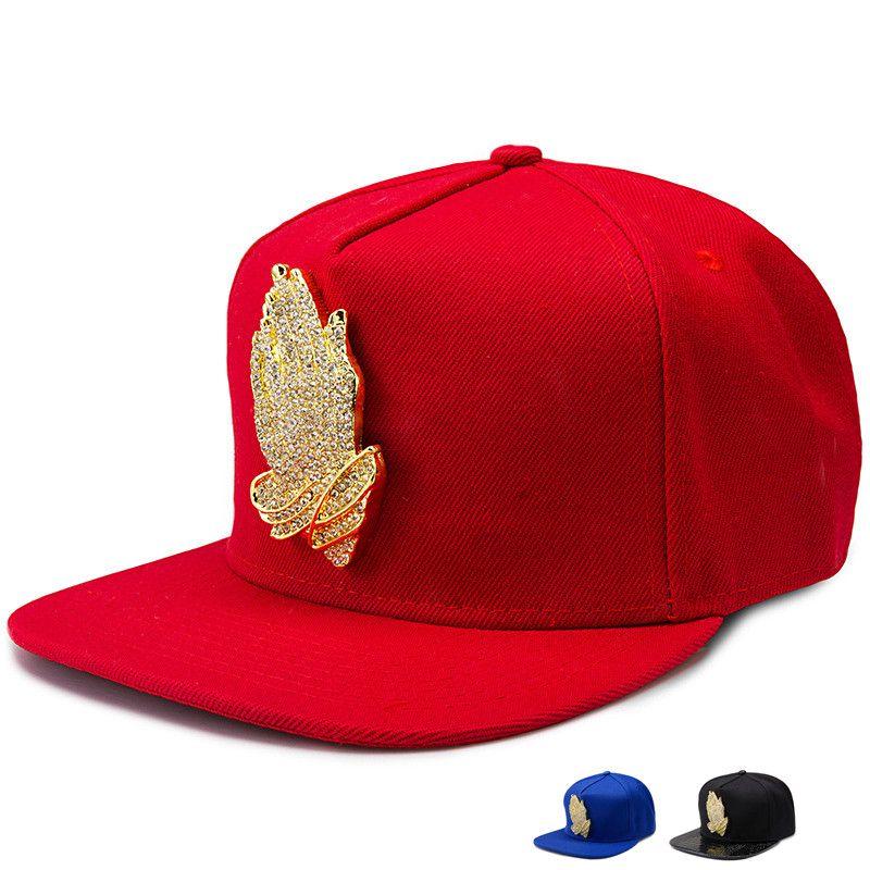 Compre Dios De Oro Jesús Orando Manos Logo Hip Hop Sombreros De Golf  Ajustable Snapback Hombres Mujeres Deportes Béisbol Gorras Azul Rojo Negro  A  16.09 Del ... 18bd607aaf1