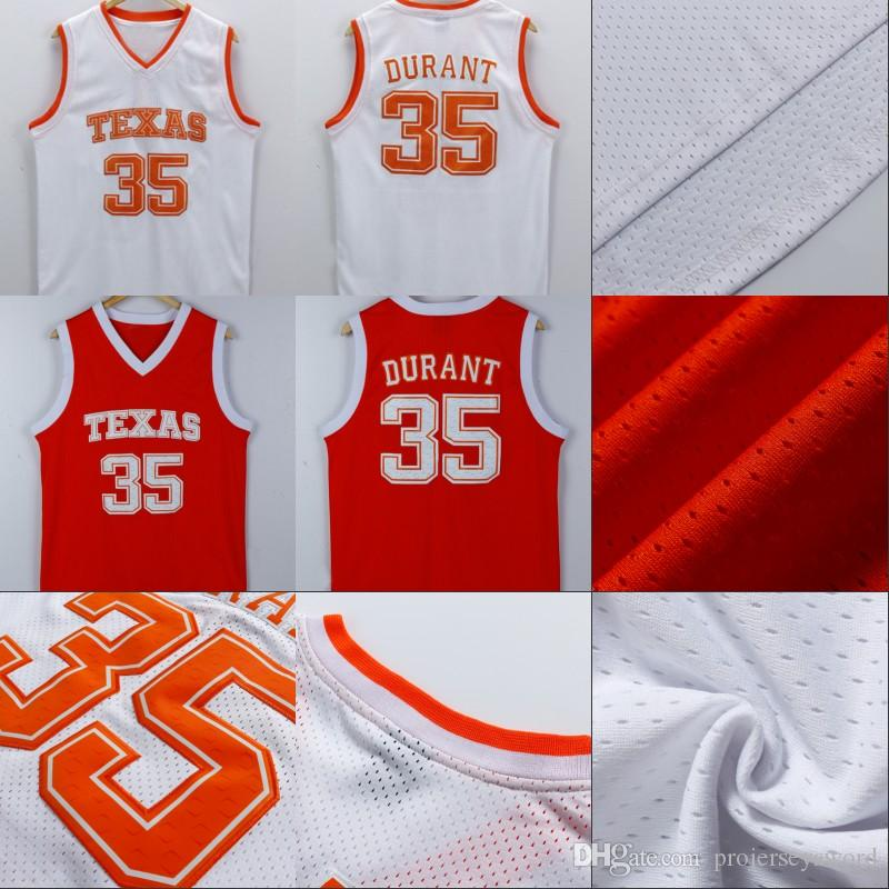 4bbe52d8 ... new zealand 2018 mens texas longhorns college 35 kevin durant jersey  100 stitched red shirts white