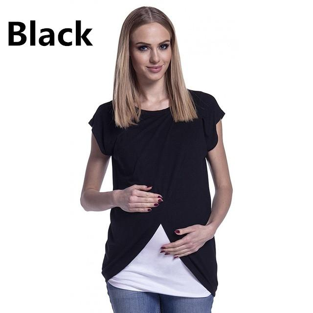 9a61c93cfca9e 2019 2018 Newly Breastfeeding T Shirt Summer Short Sleeve Round Collar  Maternity Women Nursing Clothes Pregnancy Tops Size S XL From Okbrand, ...