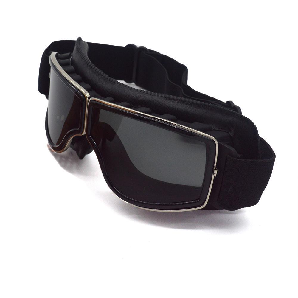 d3c1867f9b Aviator WWII Pilot Motocross Moto Goggles Vintage Scooter Glasses ...