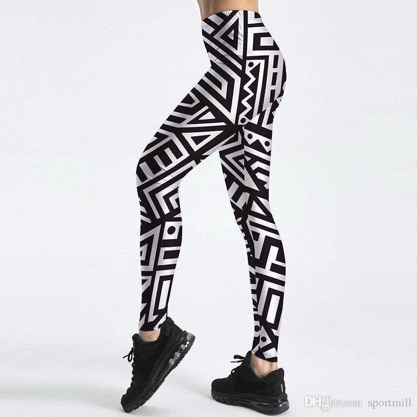 6f4521211dabd 2019 Maze Pants White Black Line Tight Skinny Black Milk Women Gym Clothing  Sport Wear Fitness Sportwear Exercise Trousers From Sportmill, $14.55 |  DHgate.
