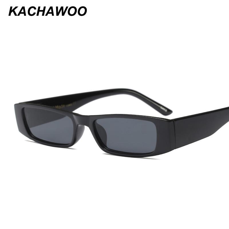 5da922134d Compre Kachawoo Al Por Mayor 6 Unids Mini Rectángulo Gafas De Sol Hombres  Gafas De Sol De Moda Vintage Negro Para Mujeres Accesorios Verano 2018  Uv400 A ...