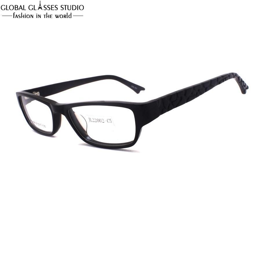 6d2f9bb7a Compre New Fashion Design Clássico Estilo Óptico Óculos De Boa Qualidade  Mulheres Eyewear Quadrado Preto Xadrez Templo Óculos De Armação Jb 8458 C1  De ...